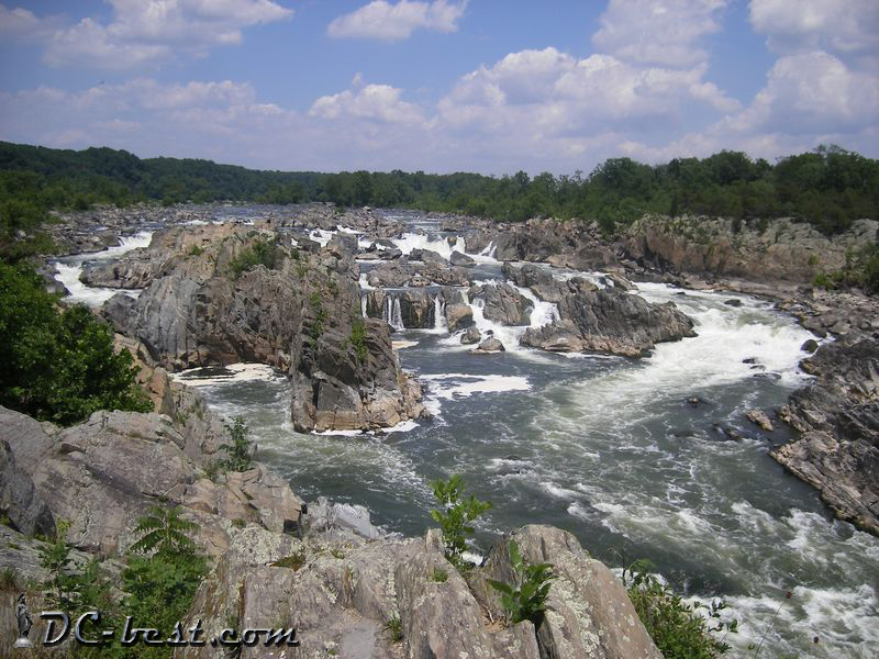 Водопады Great Falls, Fairfax, Virginia