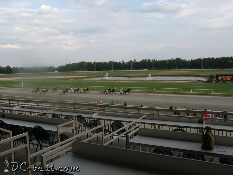 Horses races at Colonial Downs. Williamsburg, Virginia