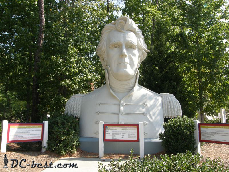 President Andrew Jackson. Presidents Park. Williamsburg, Virginia