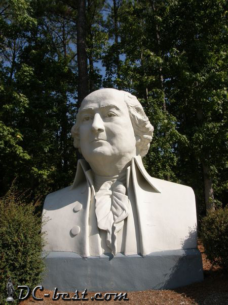 President John Adams. Presidents Park. Williamsburg, Virginia