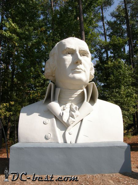 President James Monroe. Presidents Park. Williamsburg, Virginia