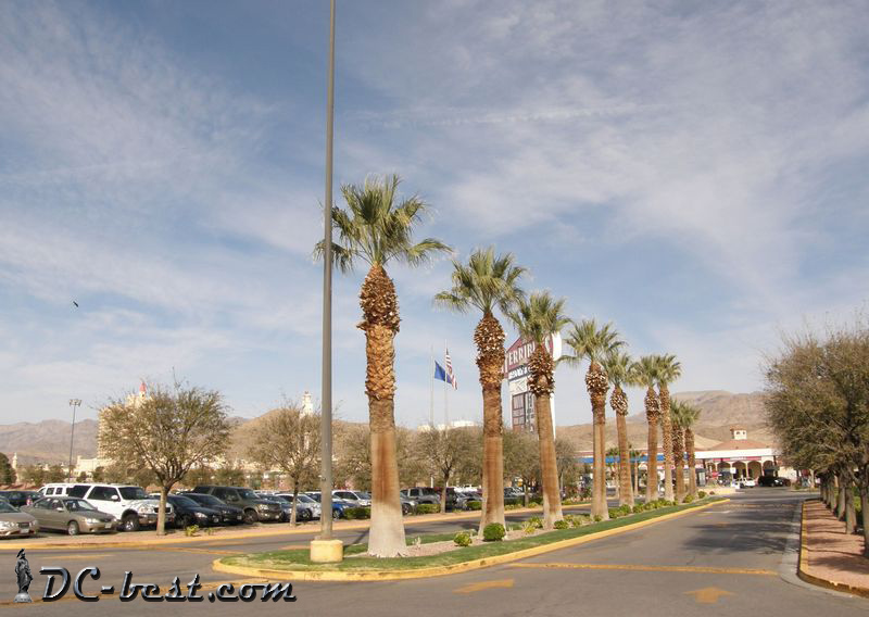 Entrance to Primm Valley casino at State Line Nevada
