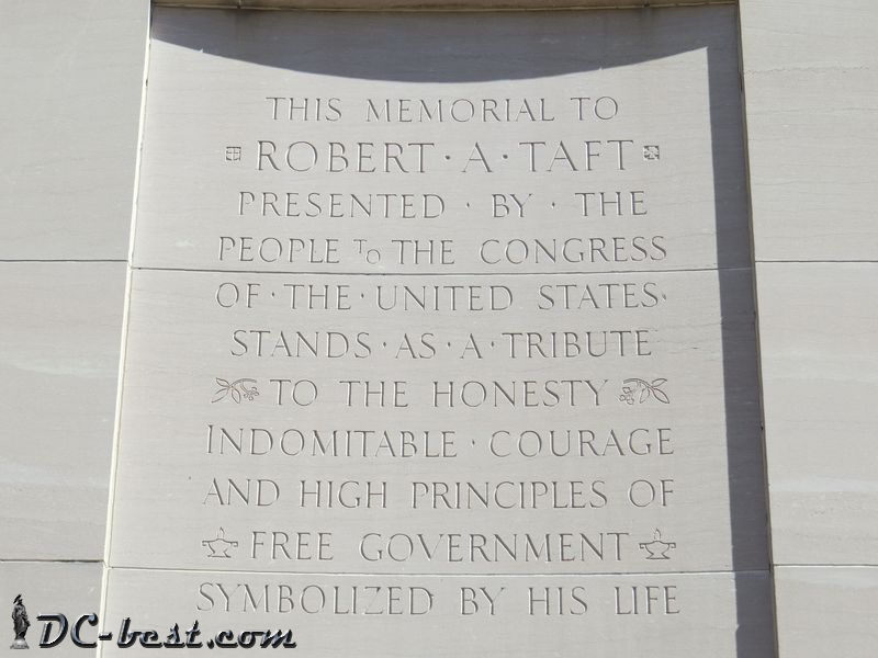 The inscription on the Robert Taft Memorial Tower