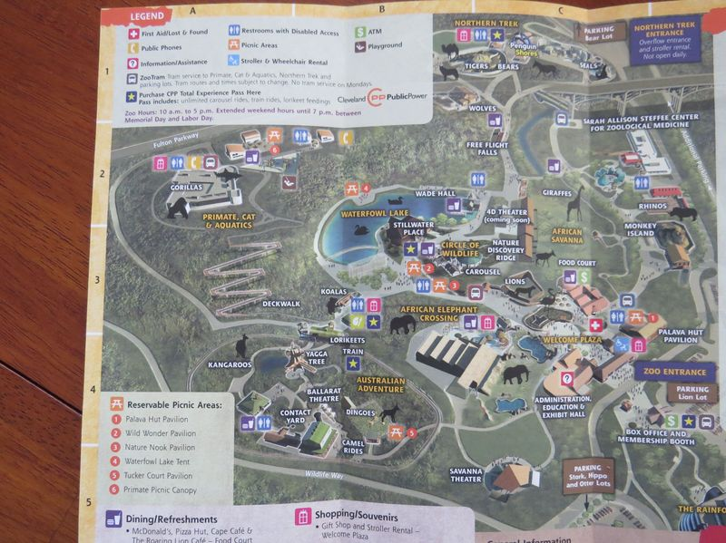 Cleveland Metroparks Zoo map