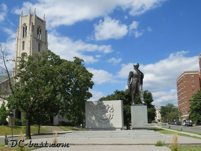 The Taras Shevchenko Memorial in Washington, D.C.