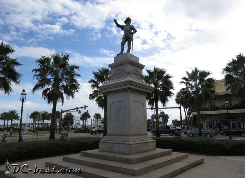 The statue of Juan Ponce de Leon in Saint Augustine, Florida