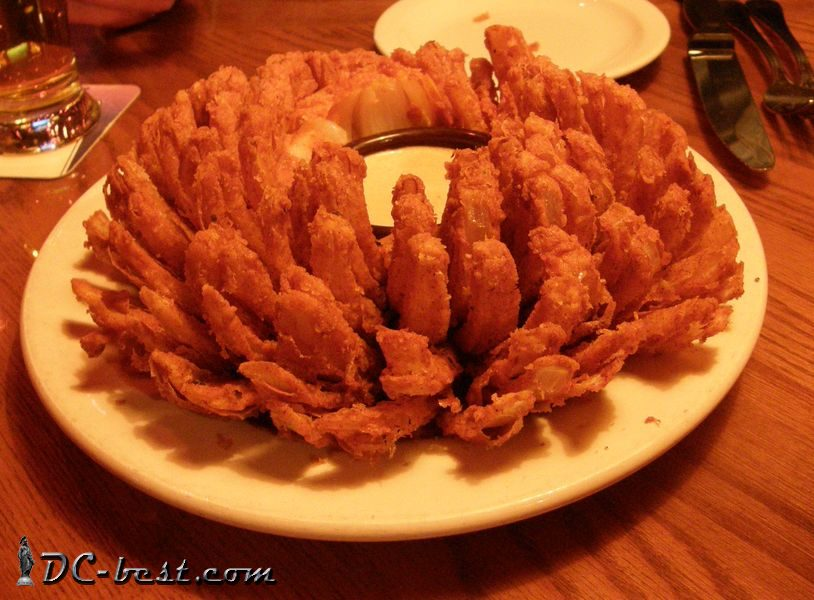Blooming onion in the restaurant Outback Steakhouse