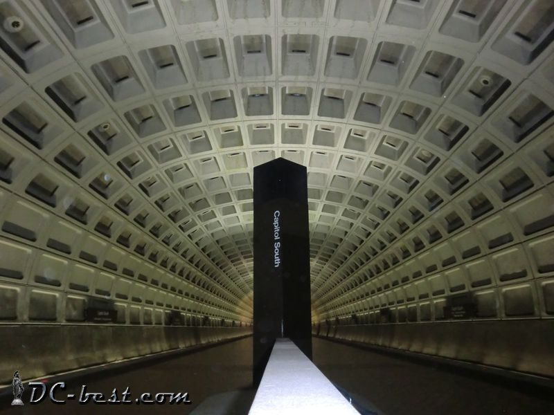Metro station Capitol South in Washington, D.C.