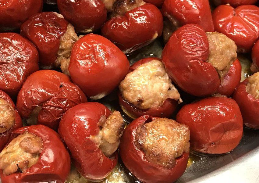 Фаршированные сыром и запеченные Mini-peppers