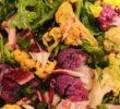 Салат из разноцветной цветной капусты